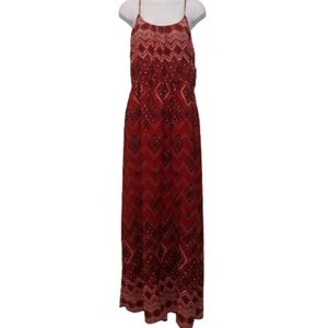 Maurice's Red Maxi Dress with Pockets